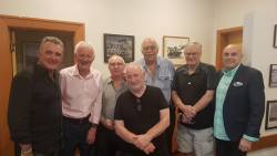 Doug-Hawkins, Doug-Akerley, Barry Michael, Les Twentyman, Percy Jones, Ron Reed and John Panteli